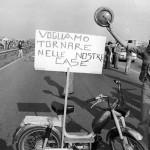 protesta sulla Milano-Meda, 1976